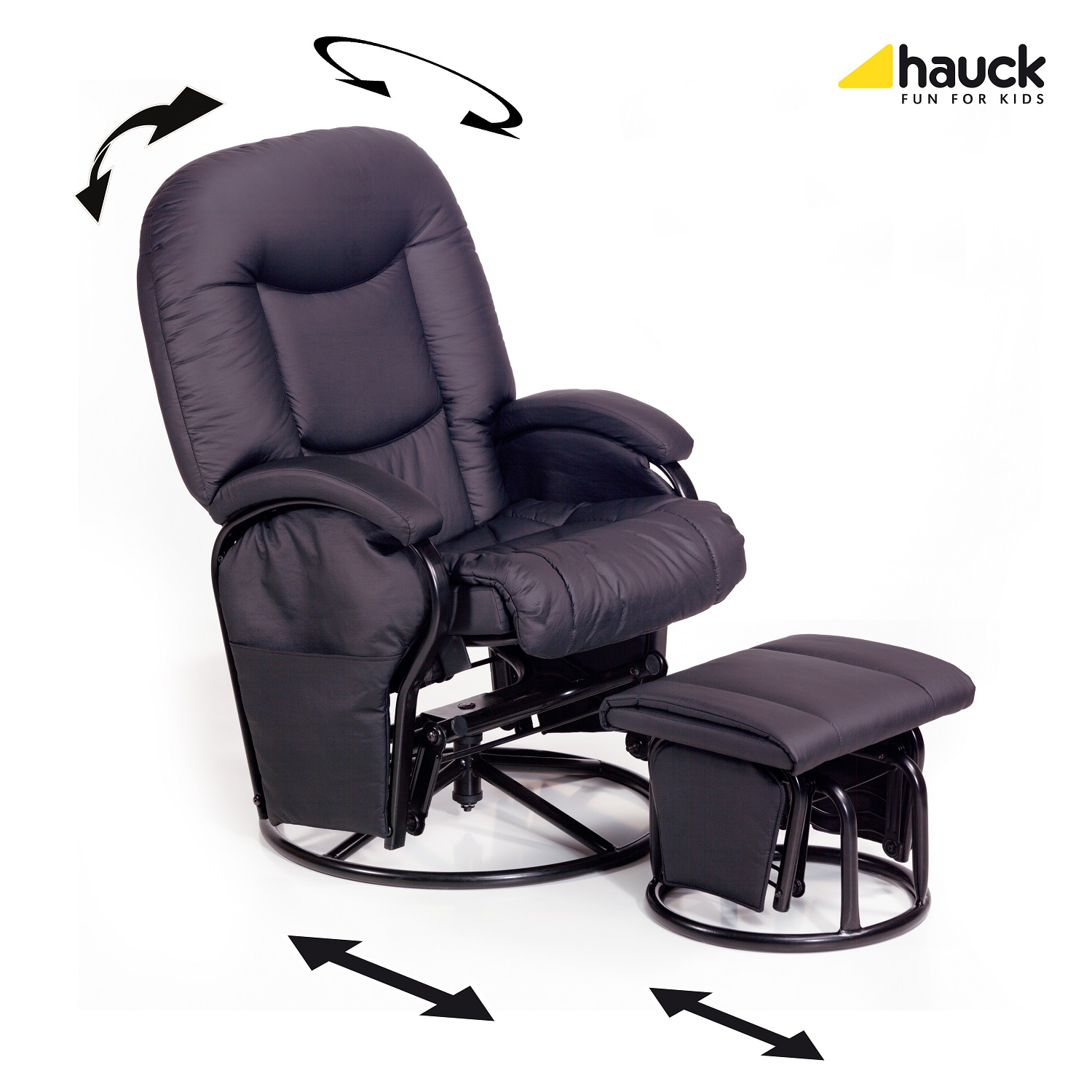 Hauck Nursing and relaxing chair Metal Glider Recline 2018 Black