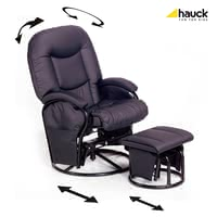 Hauck Nursing Chair Metal Glider Recline - * This trendy nursing chair by Hauck is a super comfortable companion which stands out as the perfect retreat not only during the breastfeeding period.