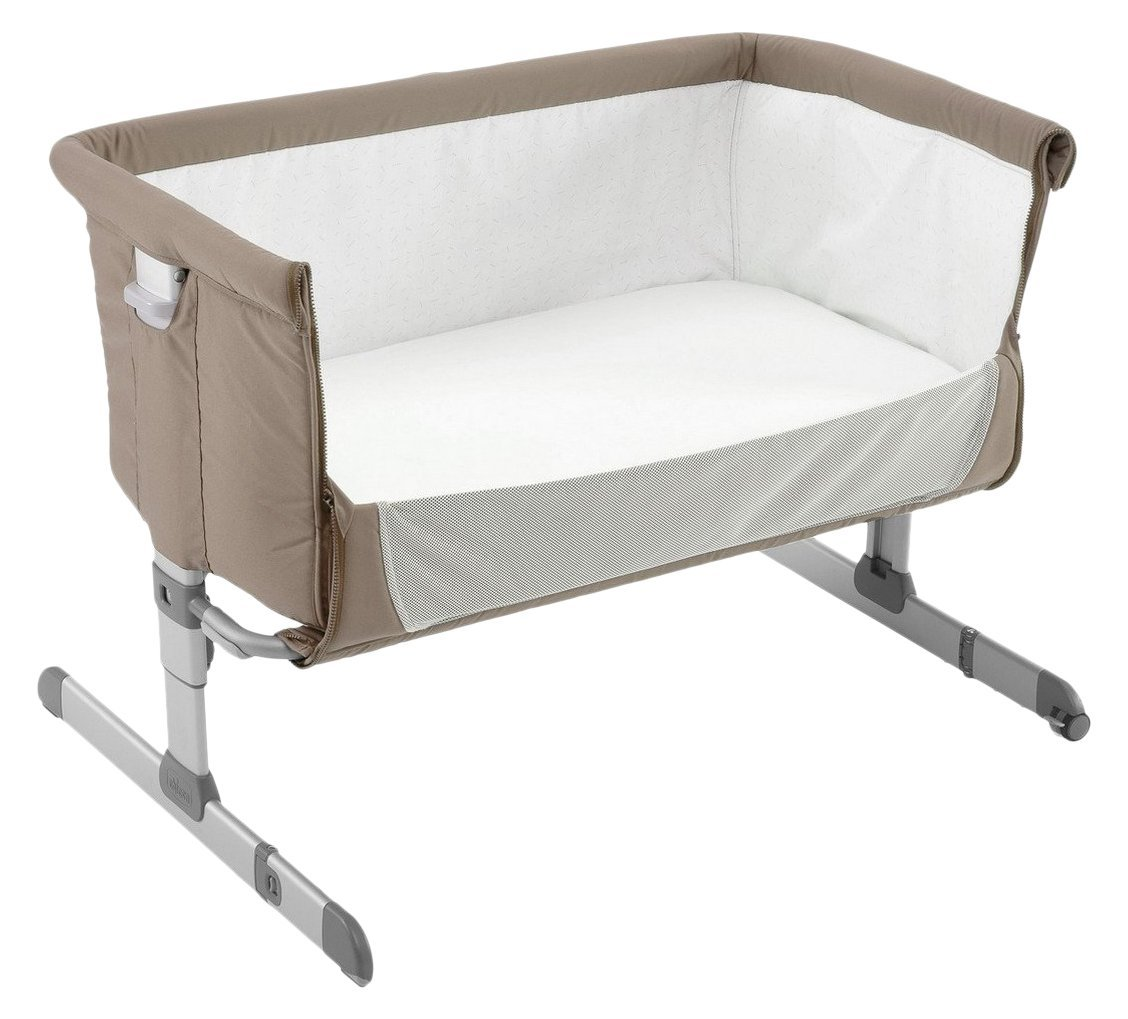 Baby bed co sleeper - Chicco Co Sleeper Cot Next2me Dove Grey 2017 Large Image 1