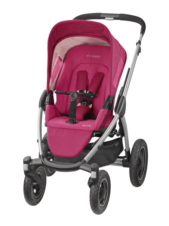 maxi cosi mura plus 4 stroller 2015 berry pink buy at kidsroom strollers. Black Bedroom Furniture Sets. Home Design Ideas