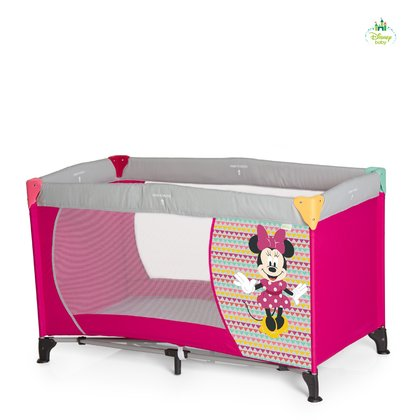 Disney Baby Travel Cot Dream'n Play, Mickey & Minnie -  * The adorable Dream'n Play travel cot Mickey & Minnie will make your little one feel super safe and comfortable while being away from home.
