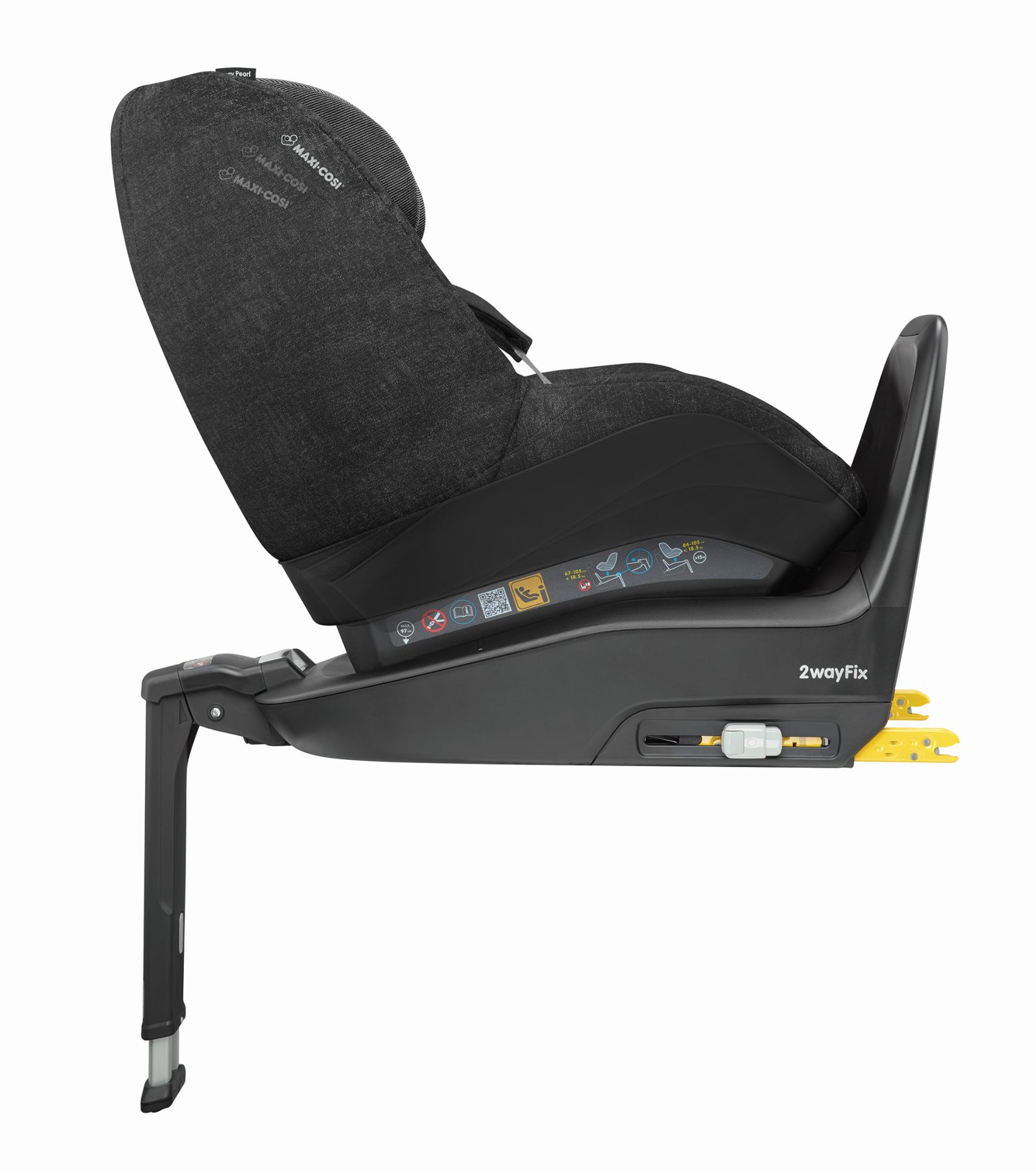maxi cosi 2 way pearl incl 2 way fix 2018 nomad black buy at kidsroom car seats isofix. Black Bedroom Furniture Sets. Home Design Ideas