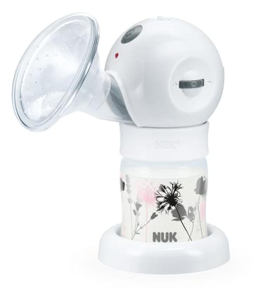 NUK Luna electric comfort breast pump -  * Efficient: 2-phase pumping rhythm with continuous variable suction strength regulation * Individual: Duration of suction phases manually selectable * Pleasant: super soft silicone cushion