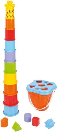 SpielMaus stacking tower with a sorting function -  * The SpielMaus stacking tower promotes the motor skills of your treasure and provides for maximum gaming fun