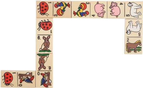 Goki animal-motif dominoes -  * By the Goki Domino animal motifs is provided fun for the whole family