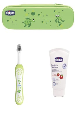 Chicco Dental Care Set -  * The Chicco Oral- set consists of a toothbrush, a toothpaste with strawberry flavor and comes in a convenient box
