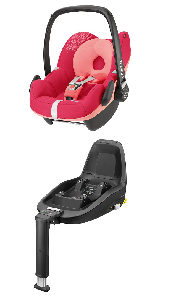 maxi cosi infant car seat pebble including 2wayfix 2014 origami rose buy at kidsroom car seats. Black Bedroom Furniture Sets. Home Design Ideas