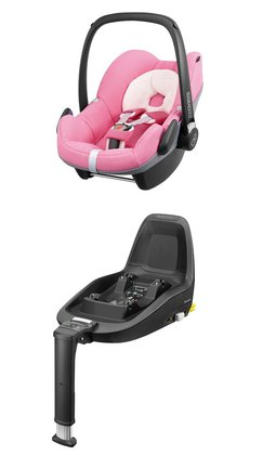 Maxi-Cosi Infant Car Seat Pebble including 2WayFix Pink Precious 2014 - large image