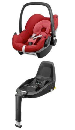 Maxi-Cosi Infant Car Seat Pebble including 2WayFix Red Rumour 2017 - large image