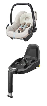 Maxi-Cosi Infant Car Seat Pebble including 2WayFix Digital Rain 2015 - large image