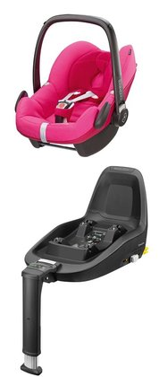 Maxi-Cosi Infant Car Seat Pebble including 2WayFix Berry Pink 2015 - large image