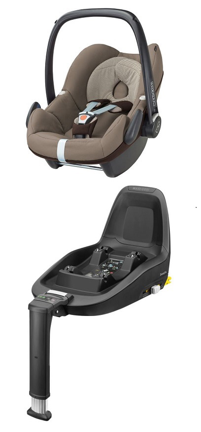 maxi cosi infant car seat pebble including 2wayfix 2018 earth brown buy at kidsroom car seats. Black Bedroom Furniture Sets. Home Design Ideas