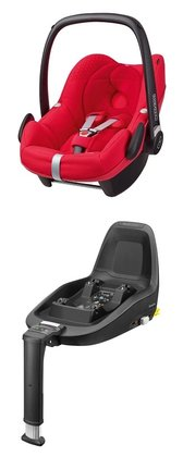 Maxi-Cosi Infant Car Seat Pebble including 2WayFix Origami Red 2016 - large image