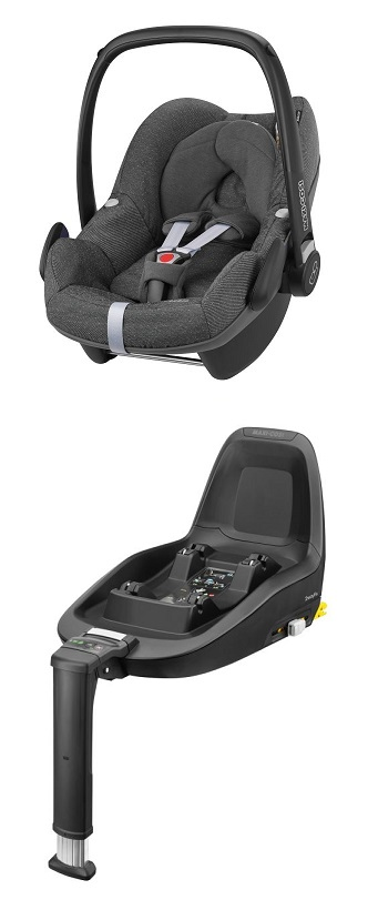 maxi cosi infant car seat pebble including 2wayfix 2018 sparkling grey buy at kidsroom car seats. Black Bedroom Furniture Sets. Home Design Ideas