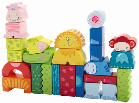 Haba Building Blocks Eenie, Meenie, Miney, Zoo! -  * The funny animal building blocks will liven up any nursery and inspire the creativity of every little builder from one year onwards.
