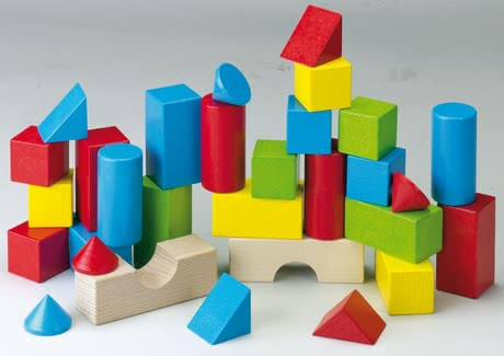 Haba Coloured Building Blocks -  * By using his or her fantasy and practicing a little patience, your child will build high towers, great columns, houses and bridges with these amazing colourful building blocks by Haba.