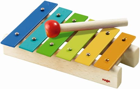 HABA Metallophone -  * Wild music or fantastic sounds – with this resilient wooden xylophone, your little one can make music like a pro!