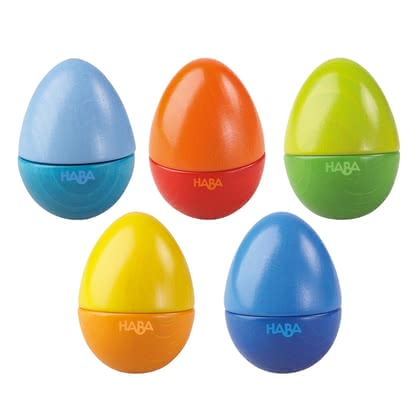 Haba Music Eggs -  * Hello there, little musicians! Rattling, clattering, chirping or ringing ... what would you like?
