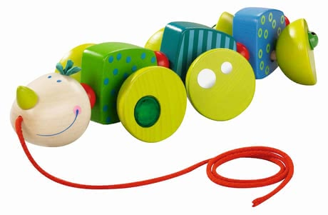 Haba Pull-along toy Cory the Caterpillar 2017 - large image