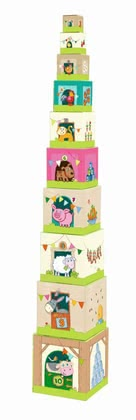 "Haba Stacking Cubes ""On the Farm"" -  * A classic but all-time favourite toy suitable for little explorers at the age of one year and older."