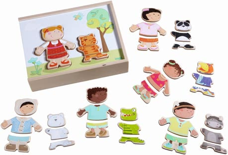 "Haba Wooden Puzzle ""Children of the World"" -  * This amazing, resilient wooden puzzle by Haba provides your little one with many ways to combine the pieces and thus turns every new try into utmost fun."