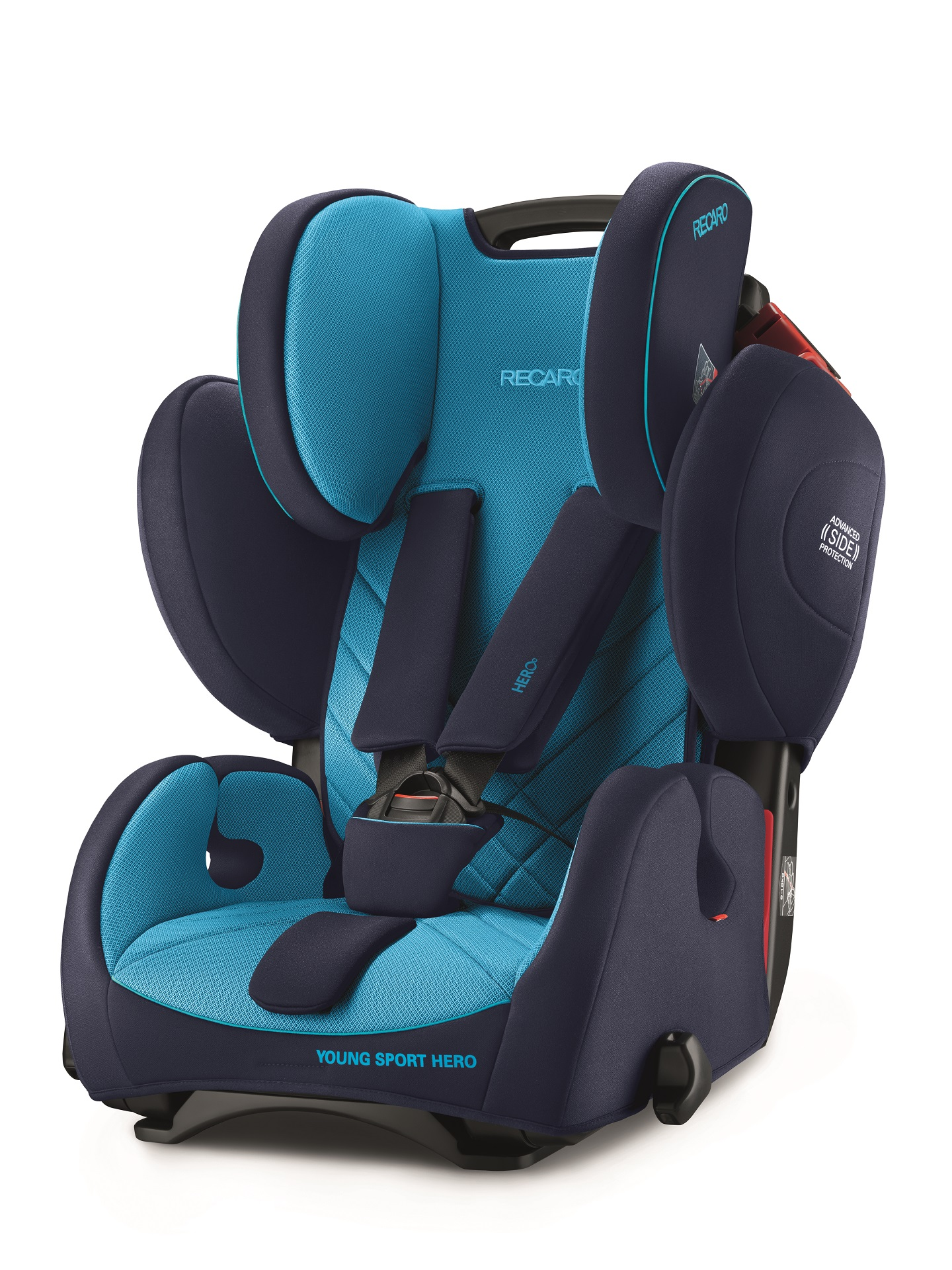 recaro child car seat young sport hero 2018 indy red buy at kidsroom car seats. Black Bedroom Furniture Sets. Home Design Ideas
