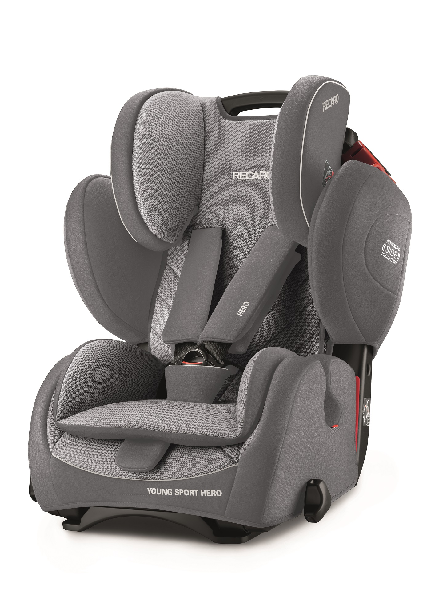 recaro child car seat young sport hero 2019 aluminium grey buy at kidsroom car seats. Black Bedroom Furniture Sets. Home Design Ideas