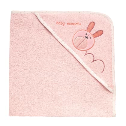 Chicco Microfiber terry hooded towel - pink rabbit 2016 - large image