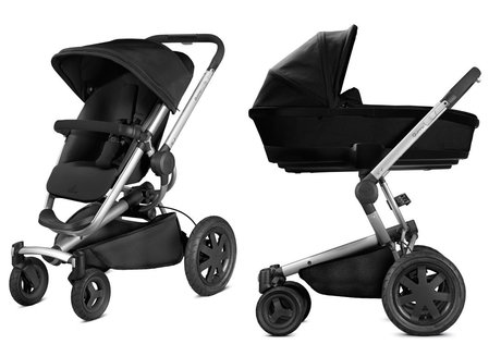 Quinny Buzzy Xtra including Dreami Carrycot Rocking Black 2019 - large image