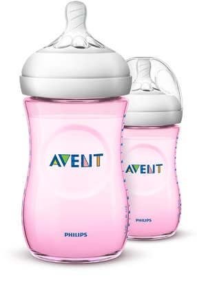 Philips AVENT Natural Flaschen 2er Pack Pastellfarben - The fancy bottles, extra for your little Prince in delicate blue, have an ergonomic shape, which is good for you to keep and to attack from any direction...