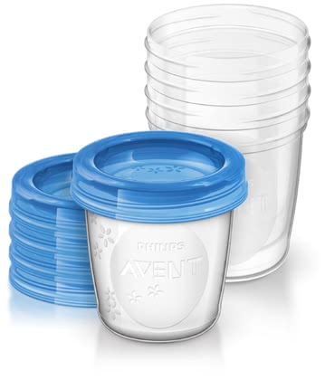 AVENT Breast Milk Storage Cups -  * Express, store and feed your breast milk efficiently with the Avent breast milk storage cups. The set includes 5 pre-sterilized re-usable cups with 5 leak-proof lids.