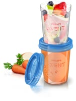 AVENT Food Storage Cups -  * Store and feed your healthy weaning meals with the Avent Food Storage Cups.
