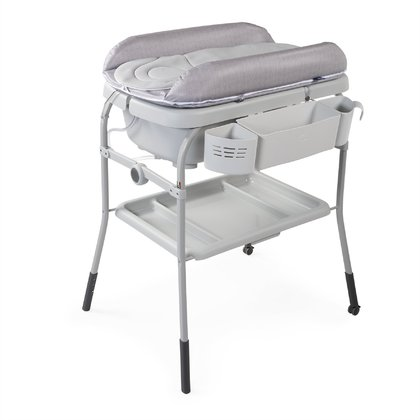 Chicco Cuddle & Bubble Comfort Baby Bath and Changing Table HAPPY SILVER 2020 - large image