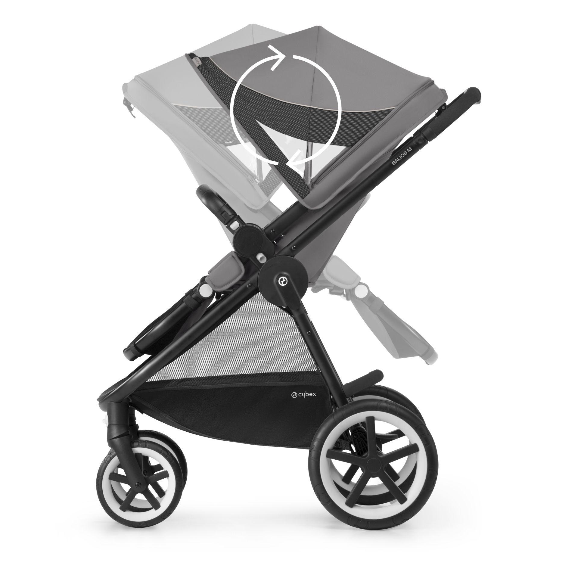 cybex stroller balios m 2018 manhattan grey mid grey buy at kidsroom strollers. Black Bedroom Furniture Sets. Home Design Ideas
