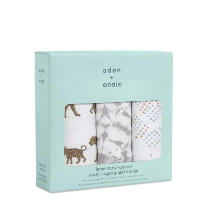 aden+anais Musy Burp Cloth, Pack of 3 -  * The soft muslin cloths made of soft muslin cotton are a versatile and convenient companion perfect for mastering everyday life with your little one.