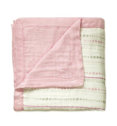 aden+anais Bamboo Dream cuddly blanket solid rose 2016 - large image