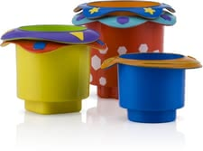 Nuby stacking cups - When playing with the great cups, your little Darling playful learning the coordination and development of processes.