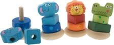 Bieco Wobbly screw stacker Zoo Animals - Elephant, Lion, or the crocodile make not only the Zoo, but also soon revive the nursery of your offspring.