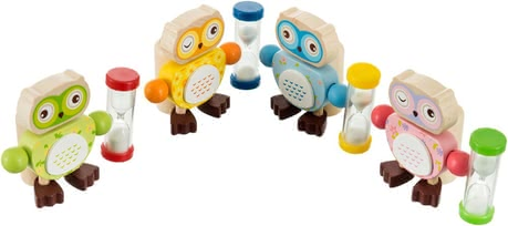 Bieco Toothbrush holder Owl - And not only that, the sweet OWL stops time thanks to hourglass long enough thoroughly to clean the milk teeth.