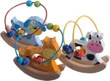 Bieco Animal bead maze - The ideal toy to promote fine motor skills. Your little Darling can move the colorful wood balls with his small hands.