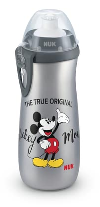 NUK Mickey Sports Cup -  * What do children love most? Discovering the world of course! The older they get, the more often you will find them outside discovering their strengths and skills while playing and doing sports. This is when the NUK Mickey Sports Cup comes in super handy, since it is perfect for the tall ones amongst the littlest to satisfy their thirst in a child-appropriate way.