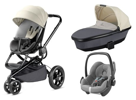 Quinny Moodd including Dreami Carrycot and Maxi-Cosi Infant Car Seat Pebble Reworked Grey 2016 - large image