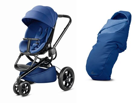 Quinny Moodd stroller including foot muff Blue Base 2017 - large image