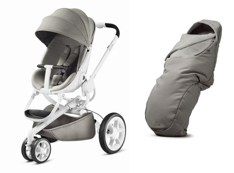Quinny Moodd stroller including foot muff Grey Gravel 2017 - large image