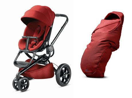 Quinny Moodd stroller including foot muff Red Rumour 2017 - large image