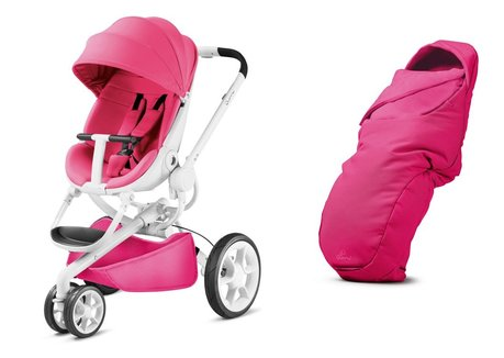 Quinny Moodd stroller including foot muff Pink Passion 2017 - large image