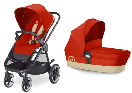 Cybex Stroller Balios M including carrycot attachment M Autumn Gold - burnt red 2016 - large image