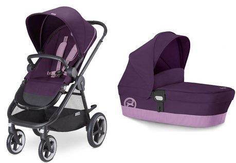 Cybex Stroller Balios M including carrycot attachment M Grape Juice - purple 2016 - large image