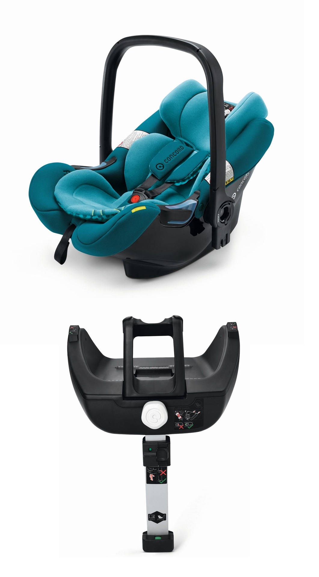 concord infant car seat air safe incl airfix isofix base 2018 scuba green buy at kidsroom. Black Bedroom Furniture Sets. Home Design Ideas