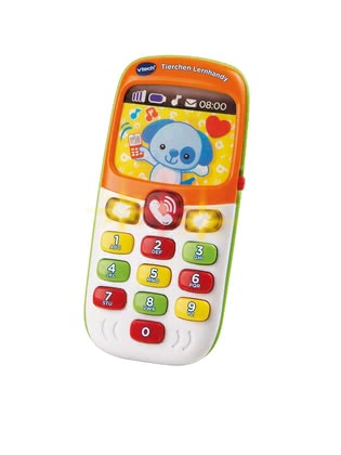 "VTech Learning Smartphone Animals -  * With VTech's adorable learning smartphone ""Animals"" will bring ultimate fun into your little one's nursery. The colourful smartphone rings, utters short sentences and asks questions – thus your child's language development will be promoted in a playful way."